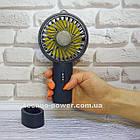 Мини-вентилятор портативный Handhald Fan F20 Navy blue. Ручной вентилятор с аккумулятором F20 Темно синий, фото 2