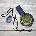 Мини-вентилятор портативный Handhald Fan F20 Navy blue. Ручной вентилятор с аккумулятором F20 Темно синий, фото 9