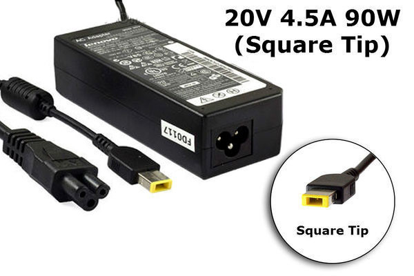 Блок питания для ноутбука Lenovo 20V, 4.5A, 90W USB+pin (Square 5 Pin DC Plug), black