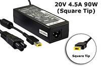 Блок питания для ноутбука Lenovo 20V, 4.5A, 90W USB+pin (Square 5 Pin DC Plug), black , фото 1