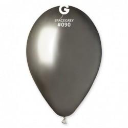 """Воздушные  шары """" Хром СЕРЕБРО ГРАФИТ """" 13""""/33см. Gemar  Balloons.ИТАЛИЯ"""