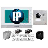 IP комплект для врезного монтажа видеодомофона Dahua DHI-VTO2000A-VTH1560BW