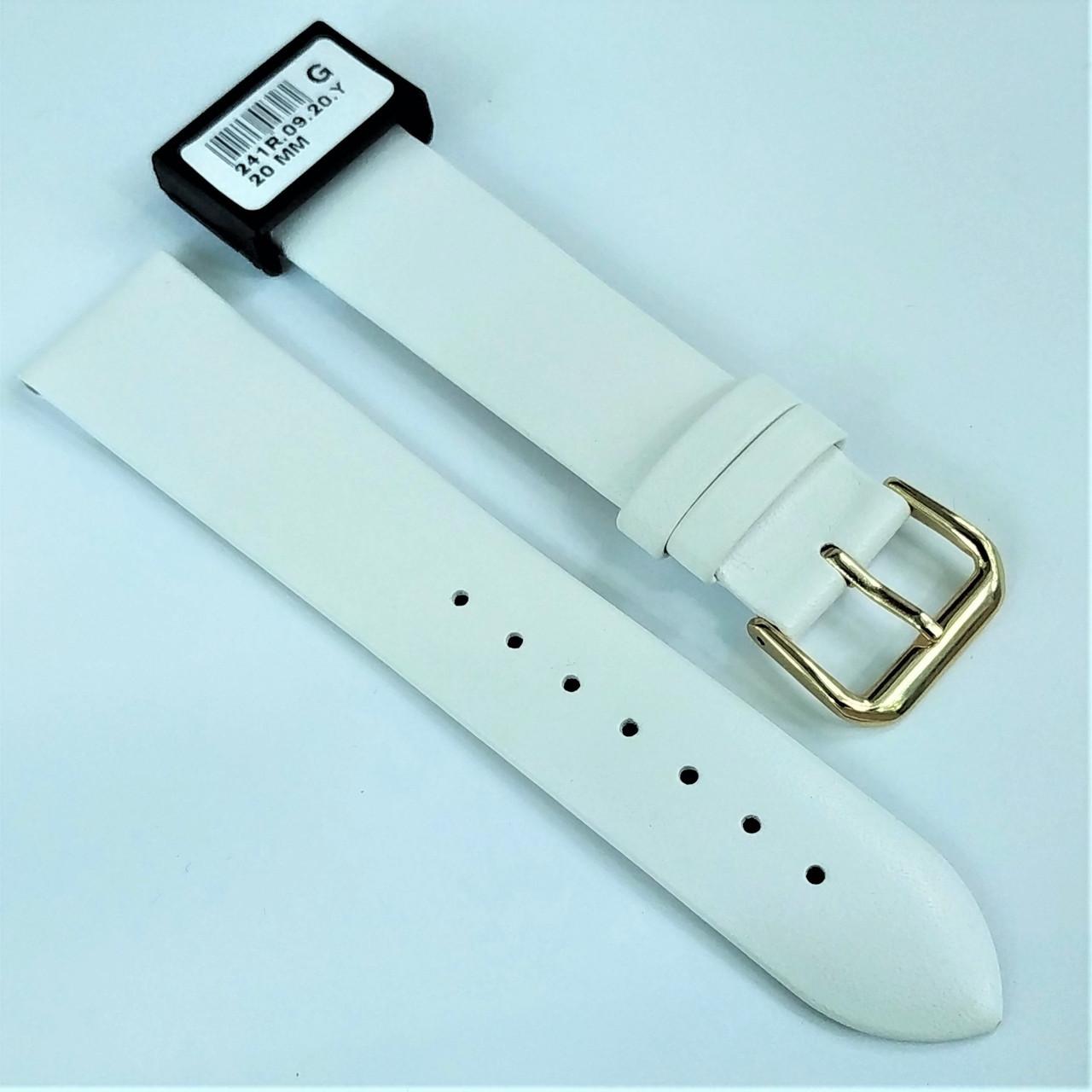 20 мм Кожаный Ремешок для часов CONDOR 241.20.09 Белый Ремешок на часы из Натуральной кожи