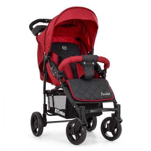 Прогулочная коляска со съемным капюшоном для малыша El Camino ME 1015L AMULET Deep Red Красная