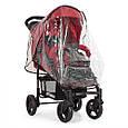 Прогулочная коляска со съемным капюшоном для малыша El Camino ME 1015L AMULET Deep Red Красная, фото 5