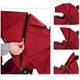 Прогулочная коляска со съемным капюшоном для малыша El Camino ME 1015L AMULET Deep Red Красная, фото 3