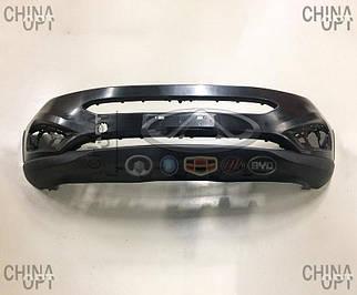 Бампер передний, пластик, черный, не крашеный, Chery Tiggo 5 [2.0, c 2016г.], T21-2803601-DQ, Aftermarket