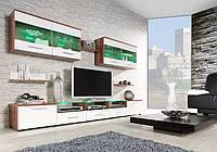 Гостиная стенка Cama I Cama слива/белый глянец