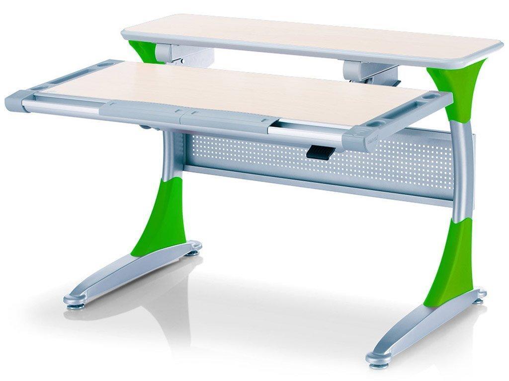 Детская парта растишка стол трансформер Goodwin HARVARD KD-333 тик - зелёный Comf-Pro