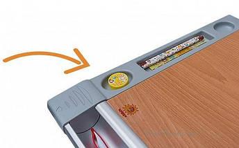 Детская парта растишка стол трансформер Goodwin HARVARD KD-333 тик - зелёный Comf-Pro, фото 3