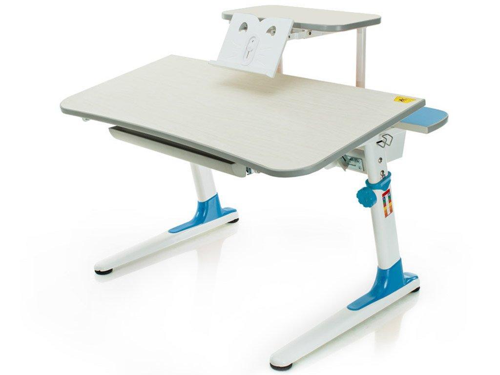 Детская парта растишка стол трансформер Mealux Edison BD-104 BL с полкой BD-S50BL (голубой)