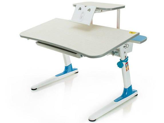 Дитяча парта растишка стіл трансформер Mealux Edison BD-BL 104 з полицею BD-S50BL (блакитний), фото 2