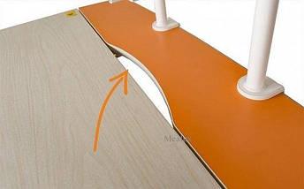 Дитяча парта растишка стіл трансформер Mealux Edison BD-104 Y з полицею BD-S50 Y (помаранчевий), фото 3