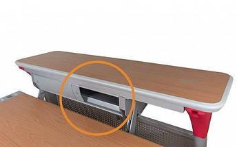 Дитяча парта растишка стіл трансформер Mealux Harvard BD-333 MG/R - box Клен червоний з кабінетом, фото 3