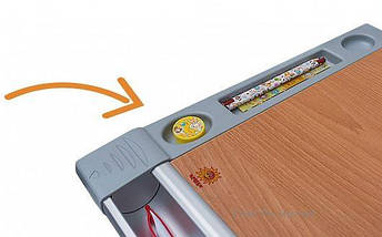 Дитяча парта растишка стіл трансформер Mealux Harvard BD-333 BG/Y Бук помаранчевий, фото 3