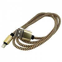 USB кабель iPhone Lightning WALKER C520 золото-черный