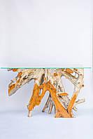 Стол консольный деревянный из корня тикового дерева,высота 80см