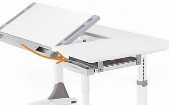 Детская парта растишка стол трансформер Mealux King BD-368 White Z Green, фото 3
