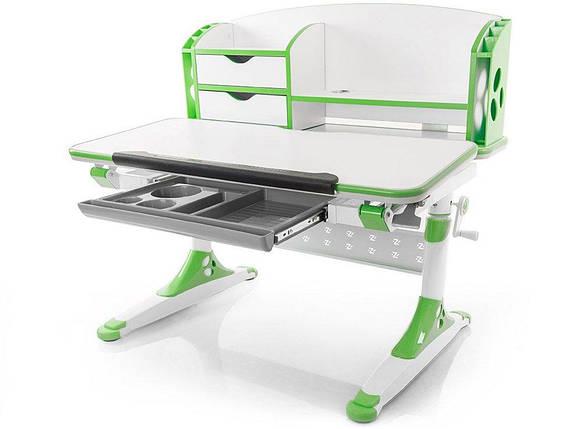Детская парта растишка стол трансформер Evo-Kids Evo-700 Aivengo (M) Green, фото 2