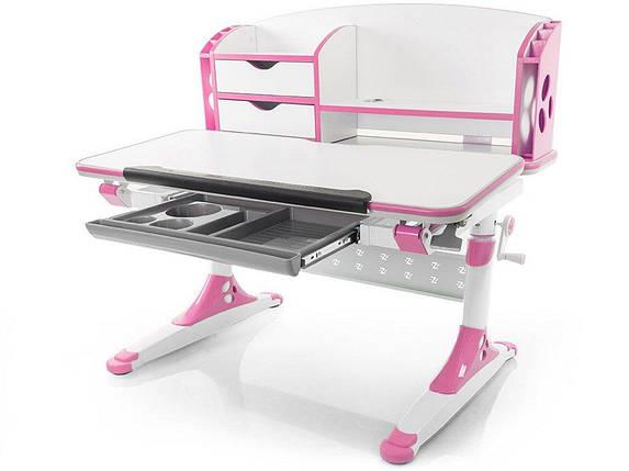 Детская парта растишка стол трансформер Evo-Kids Evo-700 Aivengo (M) Pink, фото 2