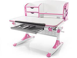 Дитяча парта растишка стіл трансформер Evo-Evo Kids-700 Aivengo (M) Pink