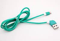 USB кабель iPhone Lightning WALKER C340 зеленый