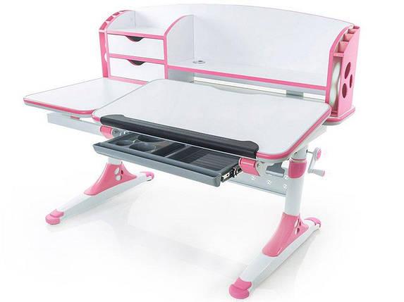 Детская парта растишка стол трансформер Evo-Kids Evo-720 Aivengo (L) Pink, фото 2