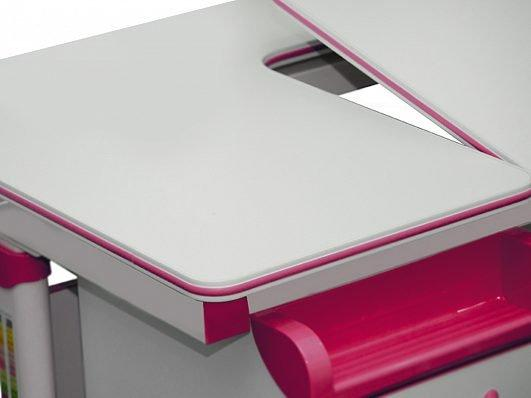 Комплект детская парта растишка стол трансформер + кресло растишка Evo-Kids Evo-50 PN Pink