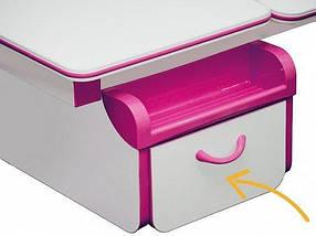 Комплект детская парта растишка стол трансформер + кресло растишка Evo-Kids Evo-50 PN Pink, фото 2