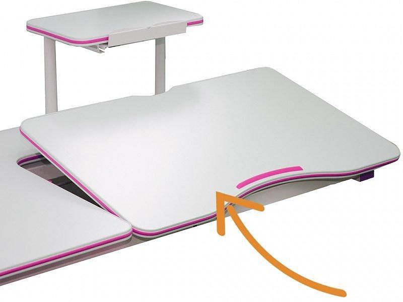 Комплект детская парта растишка стол трансформер + кресло растишка Evo-Kids Evo-40 PN Pink