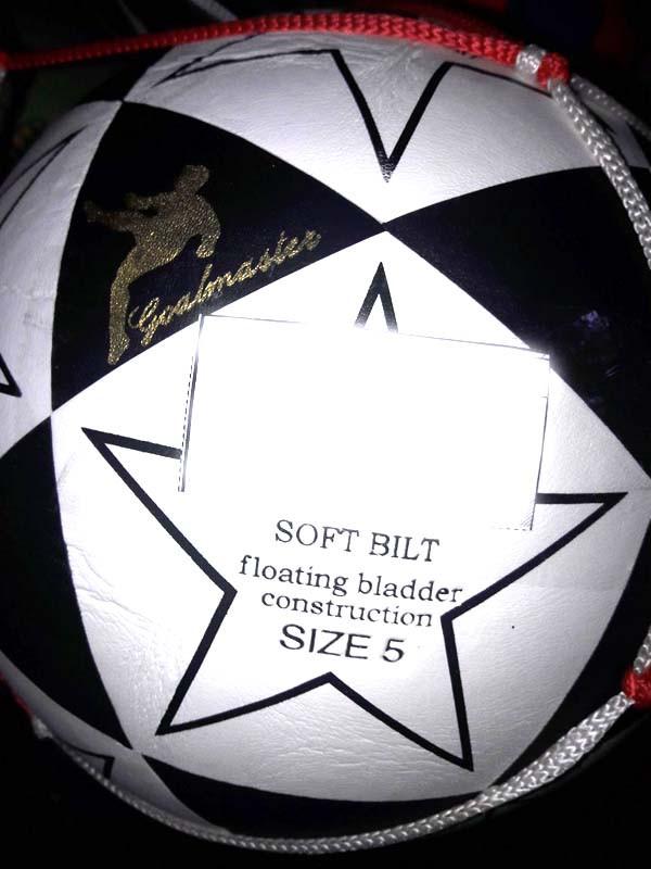 Мяч футбольный 5-2 клееный