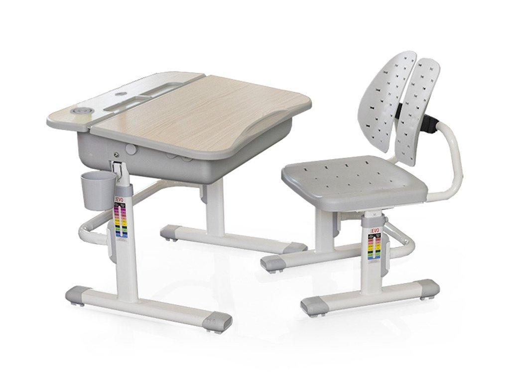 Комплект детская парта растишка стол трансформер + кресло растишка Evo-Kids Evo-03 Grey