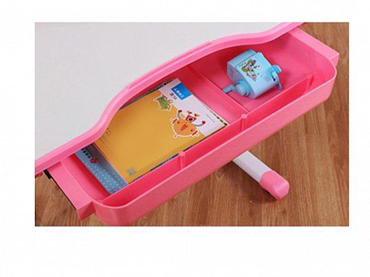 Комплект детская парта растишка стол трансформер + кресло растишка Evo-Kids Evo-17 Grey с лампой