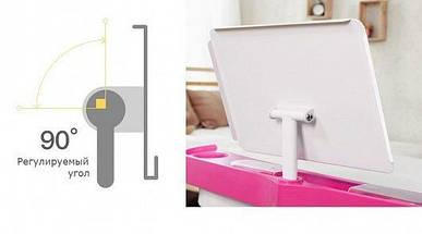 Комплект детская парта растишка стол трансформер + кресло растишка Evo-Kids Evo-18 Grey с лампой, фото 3