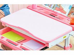 Комплект детская парта растишка стол трансформер + кресло растишка Evo-Kids Evo-19 Blue с лампой, фото 2