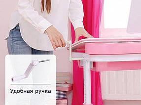 Комплект детская парта растишка стол трансформер + кресло растишка Evo-Kids Evo-19 Blue с лампой, фото 3