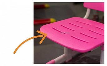 Комплект детская парта растишка стол трансформер + кресло растишка Evo-Kids Evo-04 XL B Blue клен, фото 2