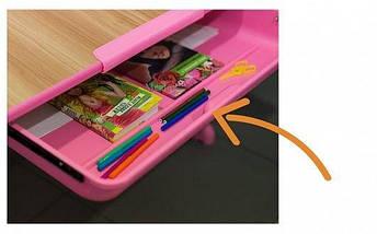 Комплект дитяча парта растишка стіл трансформер + крісло растишка Evo-Evo Kids-04 Z Green клен (з лампою), фото 3