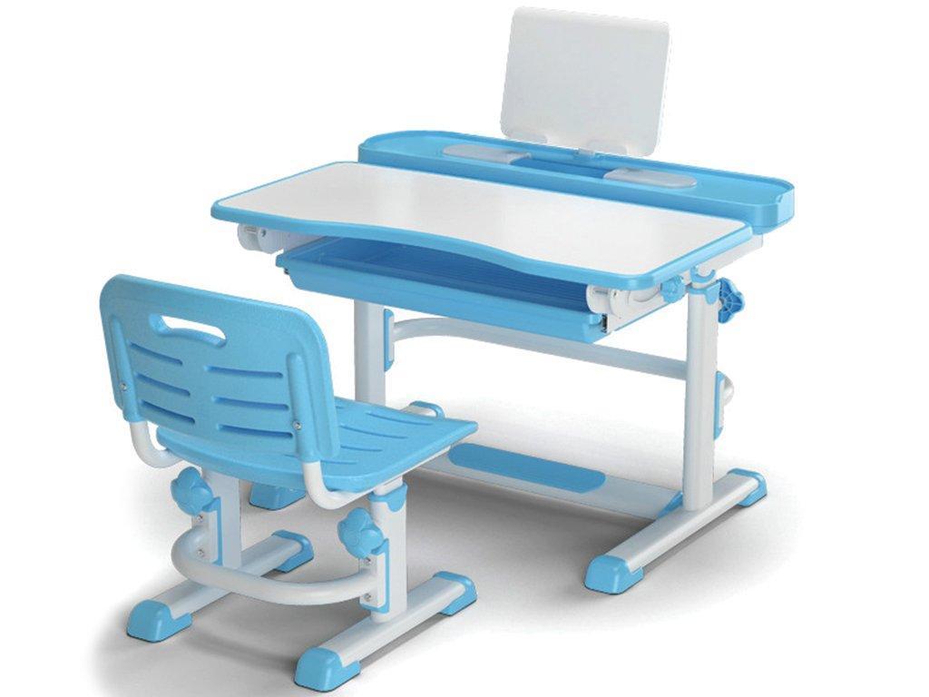 Комплект детская парта растишка стол трансформер + кресло растишка Evo-Kids BD-04 XL New Blue