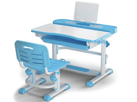 Комплект детская парта растишка стол трансформер + кресло растишка Evo-Kids BD-04 XL New Blue, фото 2