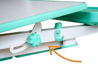 Комплект детская парта растишка стол трансформер + кресло растишка Evo-Kids BD-04 XL New Grey + Лампа, фото 3