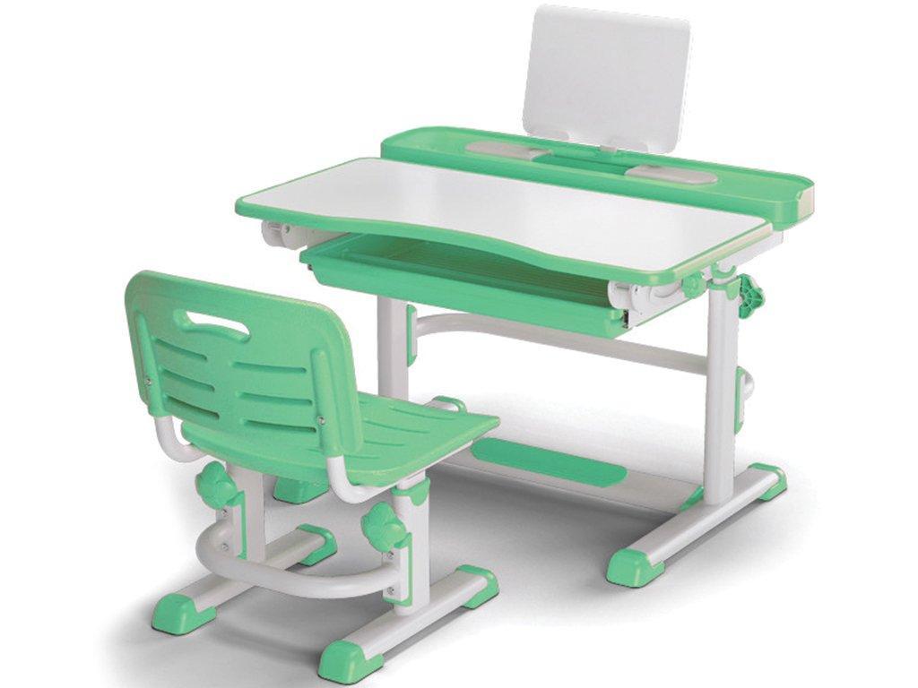 Комплект детская парта растишка стол трансформер + кресло растишка Evo-Kids BD-04 New Green