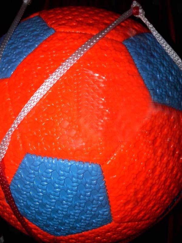 Мяч футбольный 5-5 неон