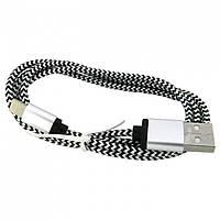 USB кабель iPhone Lightning WALKER C310 бело-черный