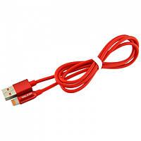 USB кабель iPhone Lightning WALKER C725 красный