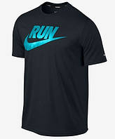 Футболка мужская Nike Run черная