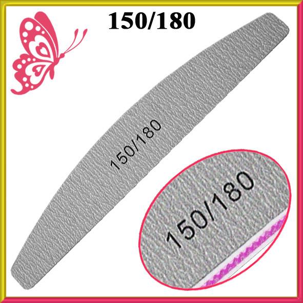 Пилка Лодка Серая 150/180 Двухсторонняя Профессиональная для Искусственных и Натуральных Ногтей