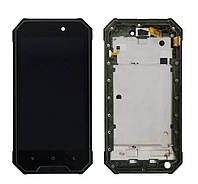 Дисплейний модуль з рамкою на Blackview BV4000 Pro Green.