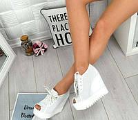 Летние женские ботиночки на платформе кожаные TOPs1731