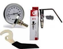 Регуляторы тяги, термометры, ручки для твердотопливных котлов
